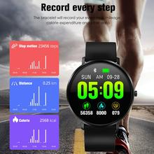 цены Full Touch Round Screen Smart Bracelet Waterproof Heart Rate Blood Pressure Monitoring Health Reminder Sports Bracelet