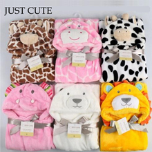 2017 New Cottons Hooded Animal Baby Bathrobe High Quality 16 Pattern Cartoon Baby Towel Character Kids Bath Robe Infant Towel