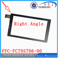 New 7'' inch Rectangular touch screen digitizer Tablet FPC-FC70S706-00 FPC-FC70S706-01 Touch panel Sensor Glass Free Shipping