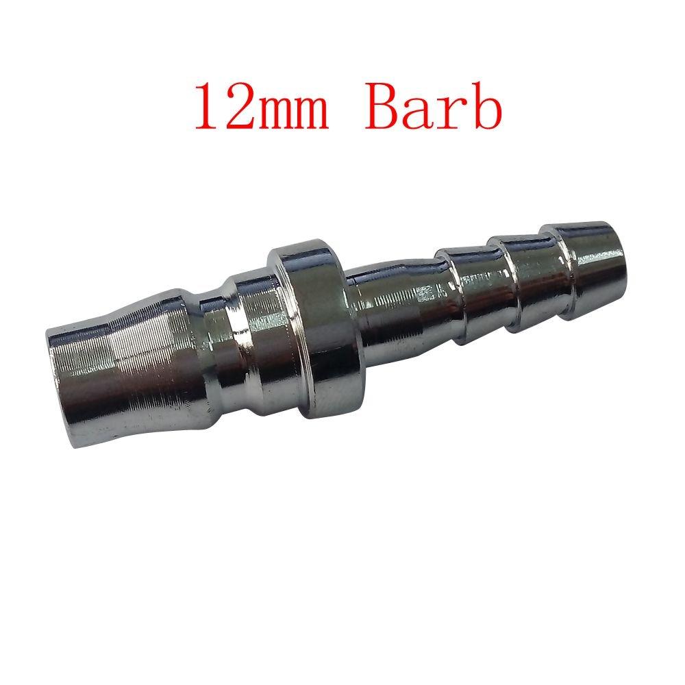 Pack of 5 12 mm Barb Air Compressor Hose Quick Coupler Plug Fitting