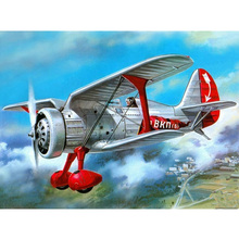 Retro airplane diamond Embroidery diy painting mosaic diamant 3d cross stitch pictures H596