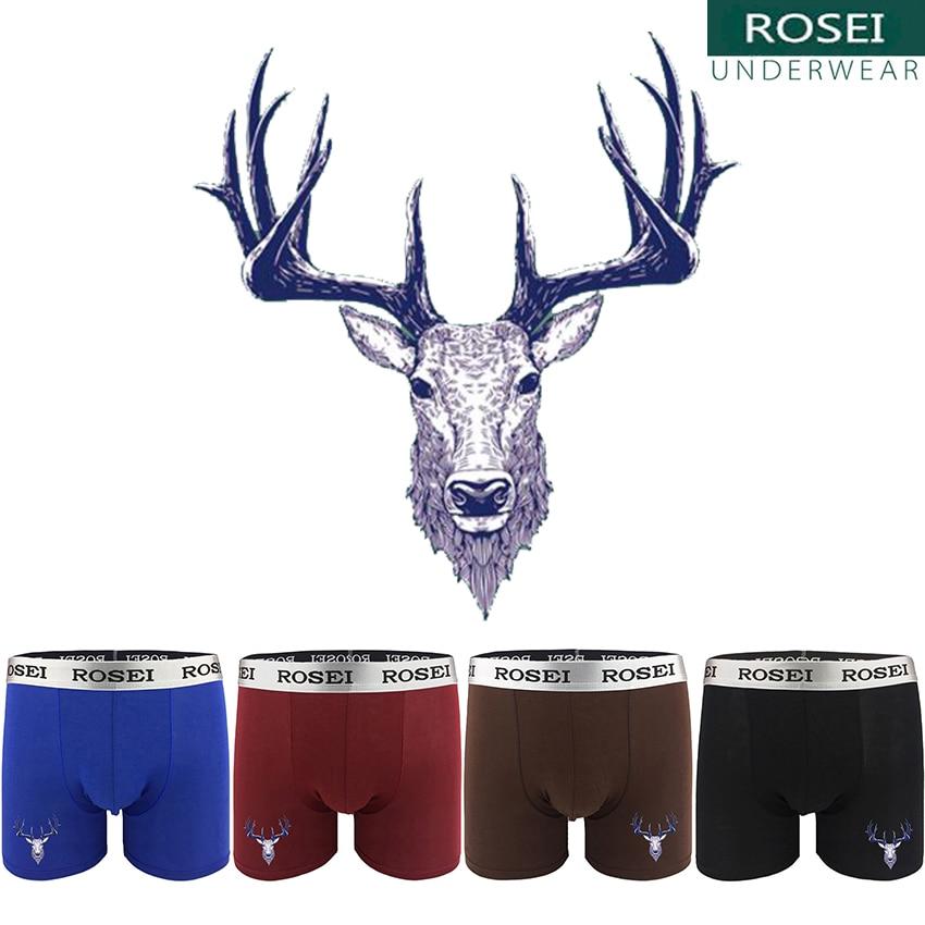 Hot Sale Deer Print Underwear For Man Long Leg Boxer Underpant Brand cuecas Comfort soft breathable calzoncillos homme Boxer