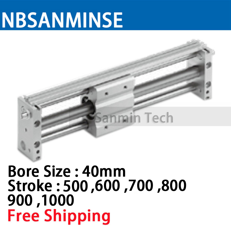 CY1S 40mm Bore Air Slide Type Cylinder Pneumatic Magnetically SMC Type Compress Air Parts Coupled Rodless Cylinder Parts Sanmin cy1s25 100 smc type cy1s cy1b cy1r cy1l series 25mm bore 100mm stroke slide bearing magnetically coupled rodless cylinder
