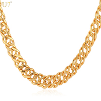 Gold Necklace Men Jewelry With 18K Stamp 2014 New Trendy 18K Real Gold Plated 0 6