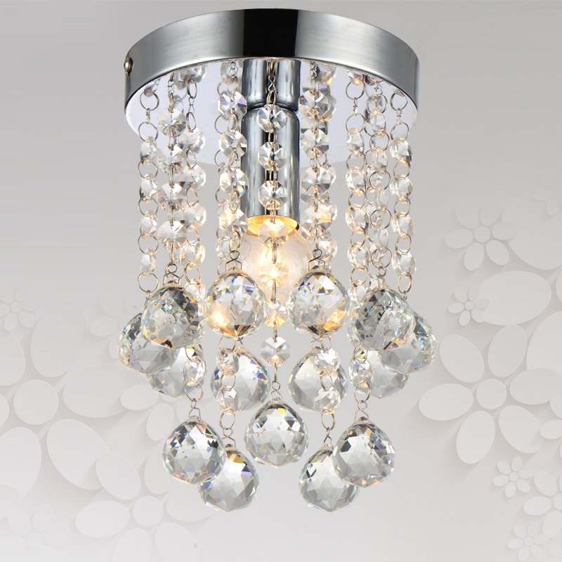 mini crystal ceiling light aisle porch corridor light lamp cristal lustres dia 6 inch stair flush