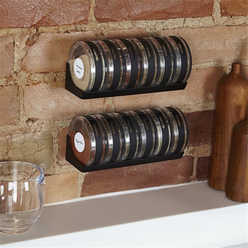 Kreativní transparentní kořenové kanystry Kuchyňské plastové koření Rack Láhve na přípravu koření Pepřové třepačky Krabice na koření Láhve na uchování