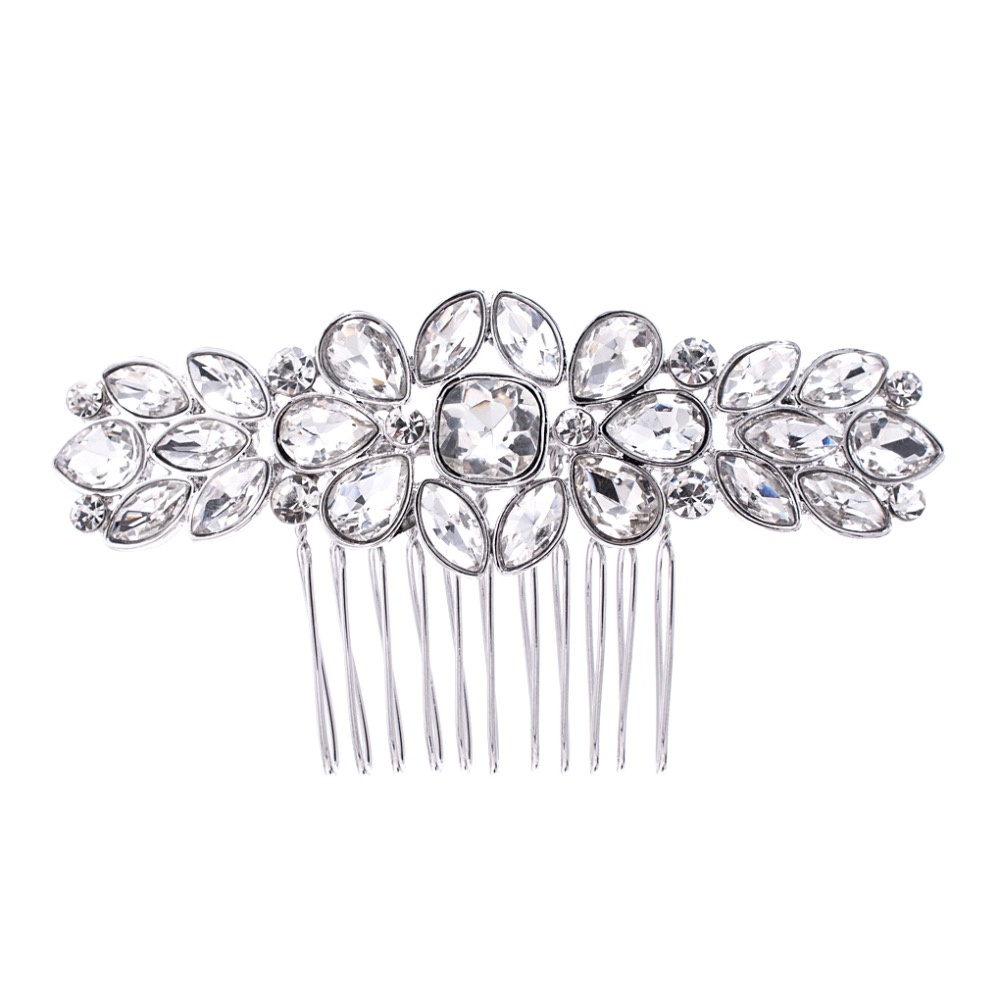 2017 New Design Rhinestone Crystals Bride Wedding Hair Combs Side Comb Hairpins Hair Jewelry Accessories GT4382