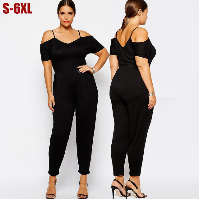 Aliexpress.com : Buy 5x 6XL Women Jumpsuits Plus Size Sexy Rompers ...