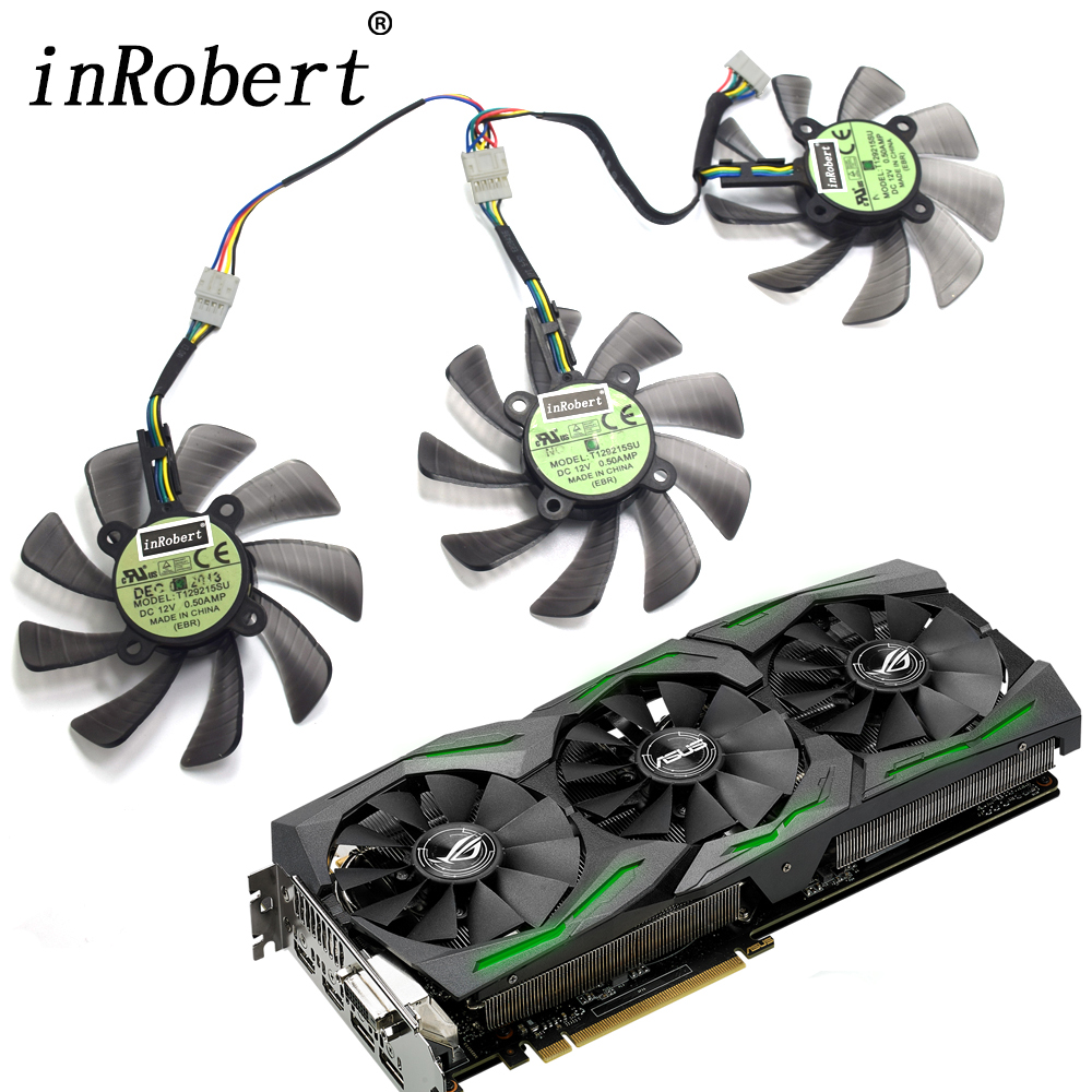 3Pcs/Lot 85MM Cooler Fan For ASUS GTX 1060 1070 1080 Ti GTX980Ti Graphics Card Everflow T129215SU 6Pin Cooling Fans 2pcs lot video cards cooler gtx 1080 1070 1060 fan for msi gtx1080 gtx1070 armor 8g oc gtx1060 graphics card gpu cooling