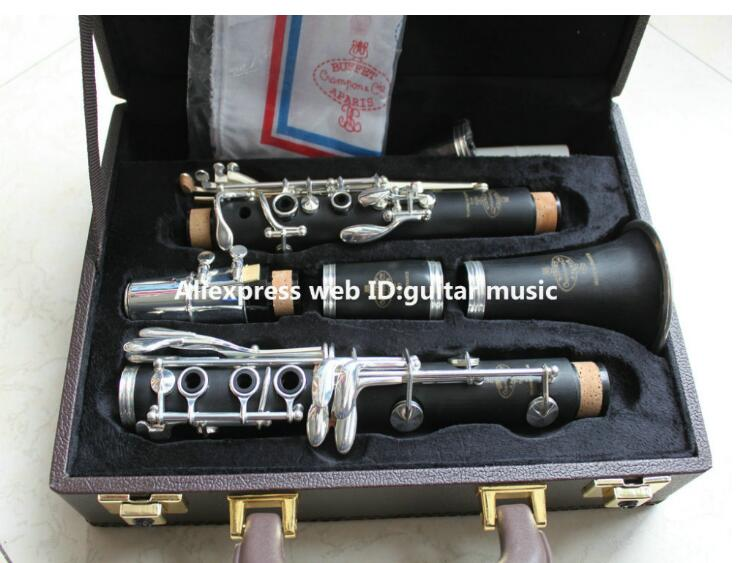 цена Copy Buffet R13 Clarinet Students Bb Clarinet 17 key Nickel Silver Bakelite Wood with Case Top Selling From China Free Shipping