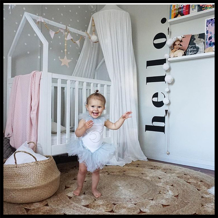 INS Special wooden Decoration Kids Room Tent Decoration Photography props Hair ball hanging Tent Decoration