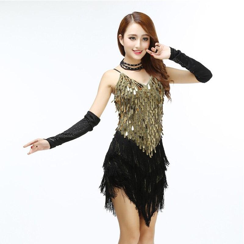 Aliexpress.com : Buy Shining V Neck Stage Clothing Costume Latin ...