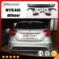 W176 diffuser fit for BENZ A-class W176 style changing car like AMG style diffuser with muffler tips