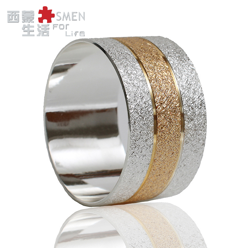 Metal Alloy Napkin Rings Gold And Silver Color For Table