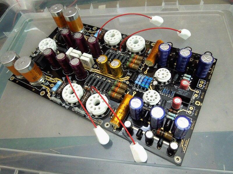 HiFi Audiophile Hi-End stéréo 12AU7 amplificateur à Tube sous vide casque Amp carte PCB kit de bricolage