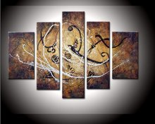 hand-painted artwork Snow mountain High Q. Wall Decor Abstract Oil Painting on canvas 5pcs/set mixorde Framed