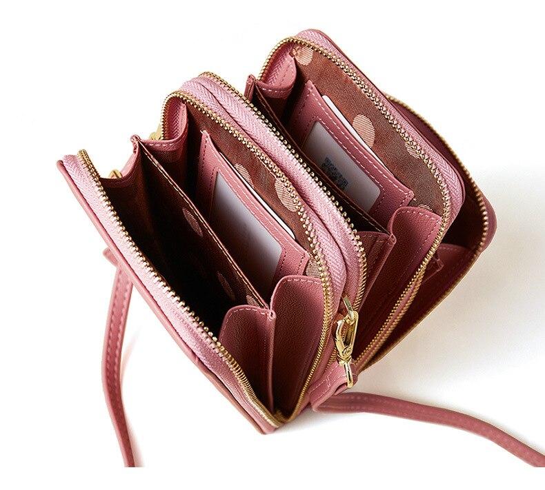 telefone celular couro crossbody sacos bolsa feminina saco do mensageiro