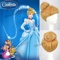 Cartoon Movie Cinderella Blonde Cosplay Wig Buns Wig Polular Movie Cos Wigs Free Shipping