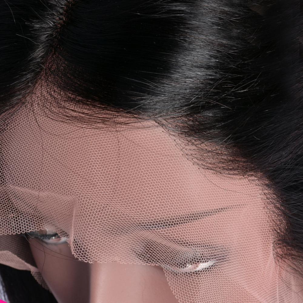 Iwish 13x4 sans colle couleur Bob dentelle avant perruques de cheveux humains pour les femmes 150% Remy brésilien droite dentelle avant perruque pré plumé - 5
