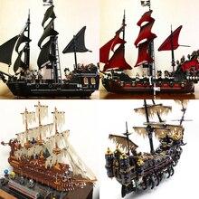 Lepin 06057 16002 16006 16009 16016 16042 16051 22001 Movie Series Pirates Of Caribbean Ship Toys Building Kits Blocks Bricks