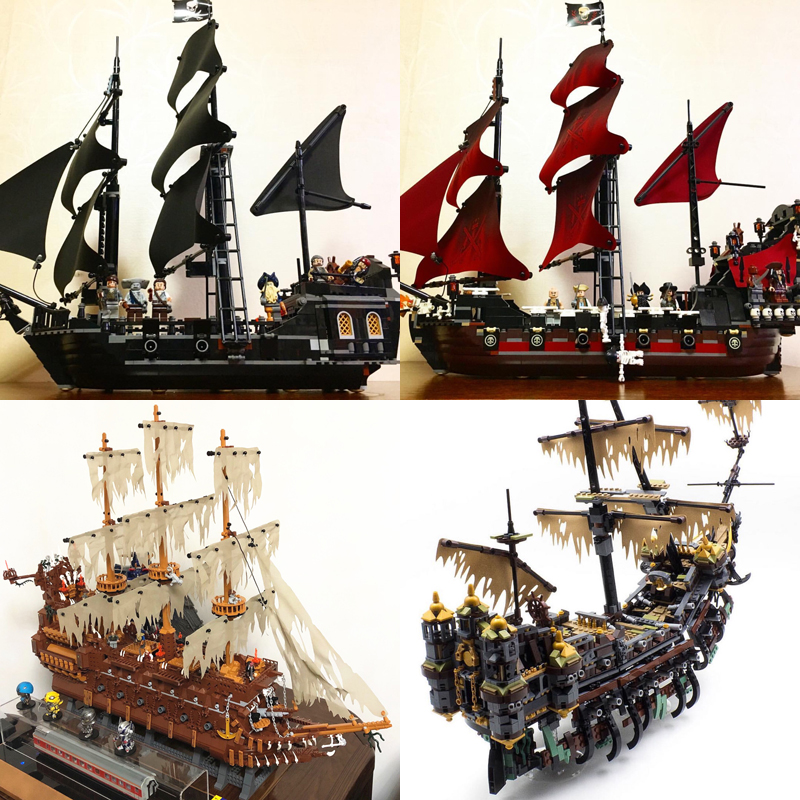 Lepin 16006 16009 16016 16042 16051 22001 Movie Series Pirates Of The Caribbean Ship Toys Model Building Blocks Sets Boys Gifts 2017 new toy 16009 1151pcs pirates of the caribbean queen anne s reveage model building kit blocks brick toys
