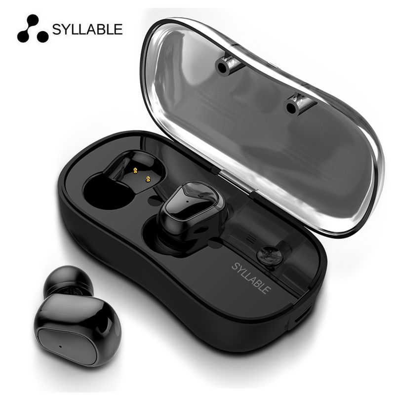 Original SYLLABLE D900P Twins Bluetooth Earphone True Wireless Stereo Earbud Sweatproof wireless sports bass earphone for ios LG