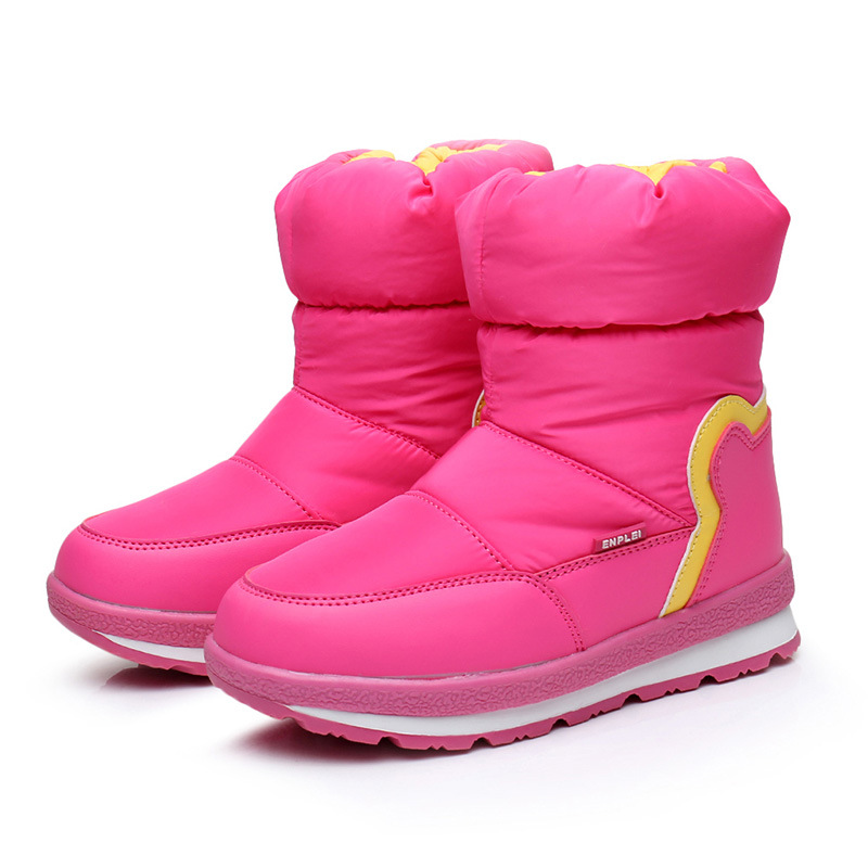 Mudipanda Boys Winter Boots 2018 Girls Snow Warm Wool Cotton Boots Kids Non Slip School Shoes Children Waterproof Fashion Shoes