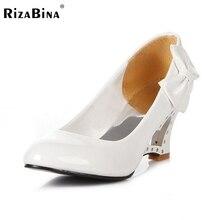 RizaBina женщина туфли на каблуках женщины сексуальное платье конфеты цвета модной обуви насосы P11860 EUR размер 34-43