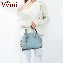 Vvmi bolsos mujer de marca famosa women genuine leather shell totes shoulder crossbody bags