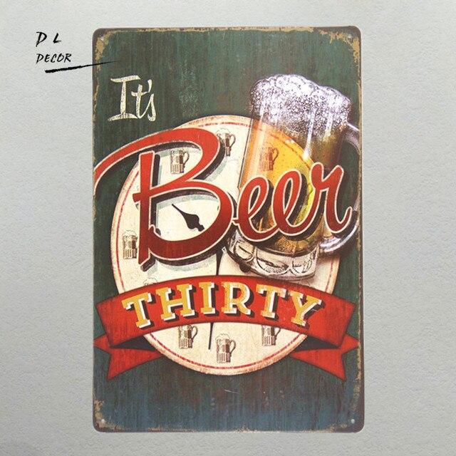 metal craft beer signs crafting. Black Bedroom Furniture Sets. Home Design Ideas