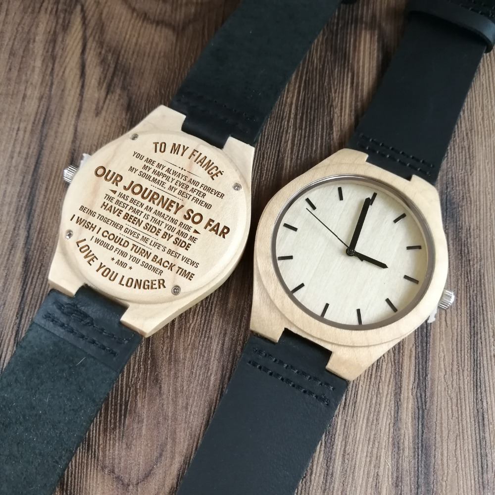 Aliexpress To My Fiance Engraved Wood Watch I Wish Could Turn Back Time From Reliable Quartz Watches Suppliers On Redear Official
