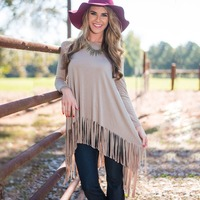 2016 Spring European and American long-sleeved dress fringed