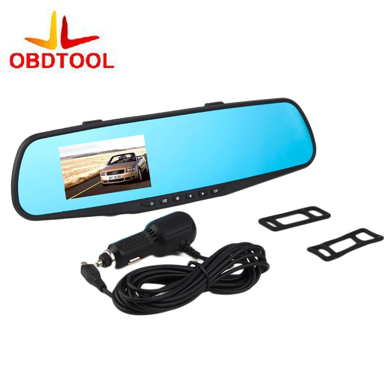 2 8 Inch Auto Dimming Car DVR Recorder Rearview Mirror Camera Video Recorder HD 1080P Parking