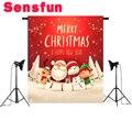 Виниловые фоны для фотостудии с изображением красных пятен Санта-Клауса С Рождеством и новым годом 10X10FT