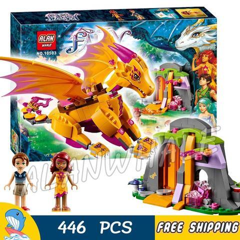 Novo Elfos o Goblin King/'s Evil Dragon blocos de construção brickstoys Criança Presente Quente