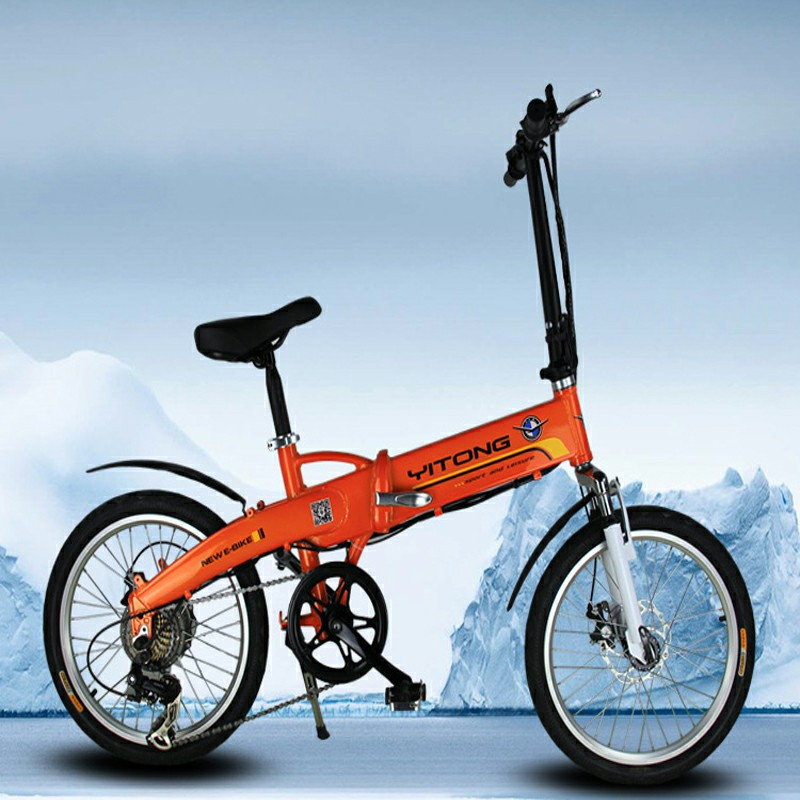 Electric power-assisted folding electric bicycle outdoor double leisure Electric bike Factory Outlets