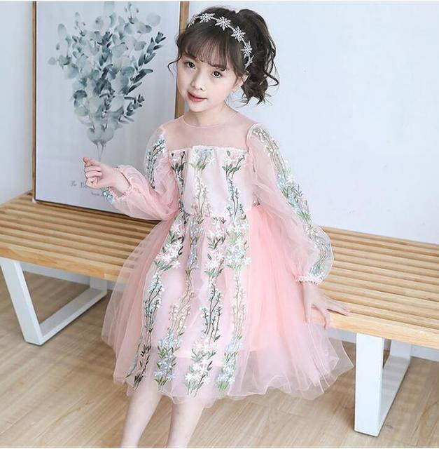 203094c884a9 Korea Girls Princess Dress 2018 Spring Kids Costume Fashion Girl Wedding Dresses  Cute Kids Holiday Dress High Grade Girl Cothing