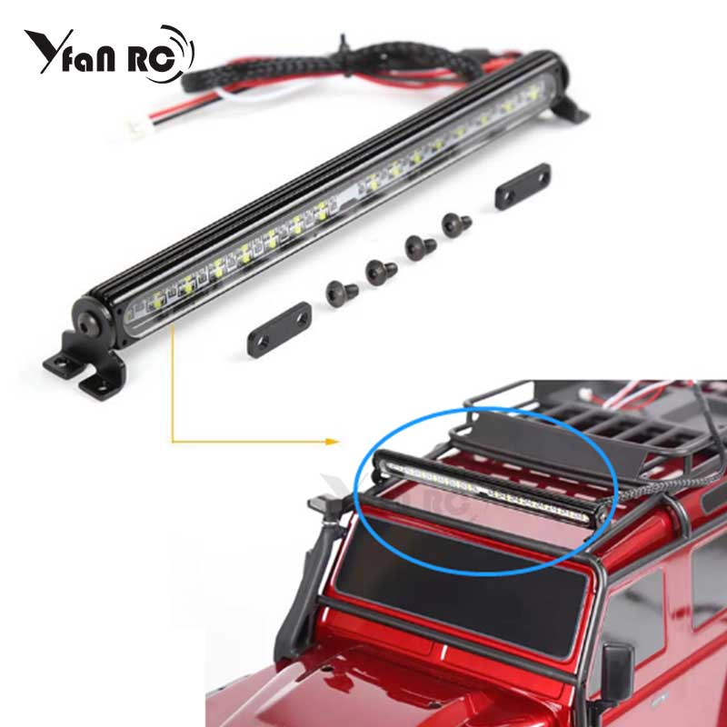 Roof Lamp Light Bar 6 LED For 1:10 RC Crawler Parts TRX4 Jeep SCX10 90046 D90