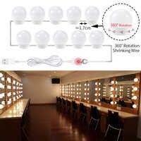 LED Hollywood Armadietto Specchio del Bagno di Luce Lampadina Led 5V di Trucco Specchio cosmetico Luci 6 10 14 Lampadine Kit per make Up Tabella di Preparazione