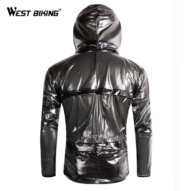 WEST BIKING Reflective Cycling Raincoat Windproof Waterproof Windbreaker Bike Jersey Mountain Road Bicycle Bike Cycling Raincoat