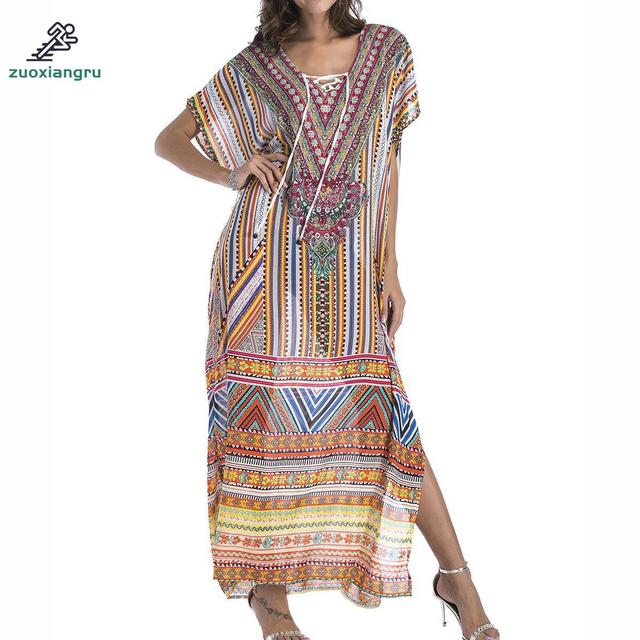 079290ea2d37a Special Price Beach Cover Up Dress Kaftan Pareos Sarongs Sexy Cover-up  Chiffon Bikini Cover