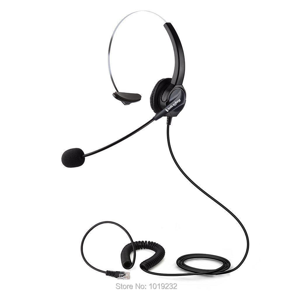 office headset headphones rj9 plug rj11 plug headset for. Black Bedroom Furniture Sets. Home Design Ideas