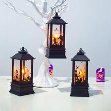 2019 Halloween Vintage Pumpkin Castle Light Lamp Party Hanging Decor LED Lantern Supplies Simulation Flame