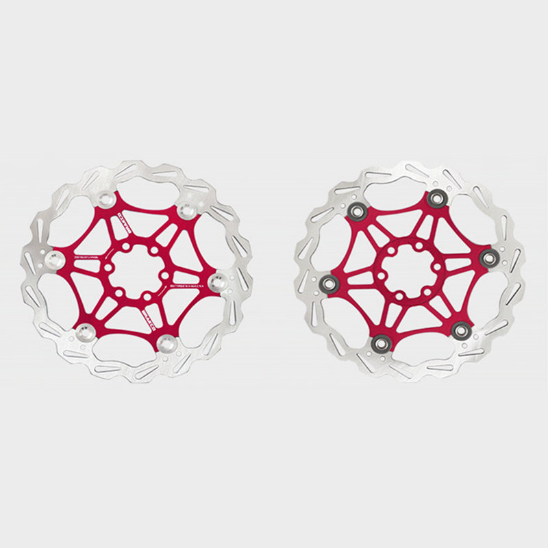 цена на 2Pcs MTB Mountain Bike Disc Brake Rotors 180mm Bicycle Floating Disc Brake Rotor Ultralight Float Floating Disk Cycling Rotors
