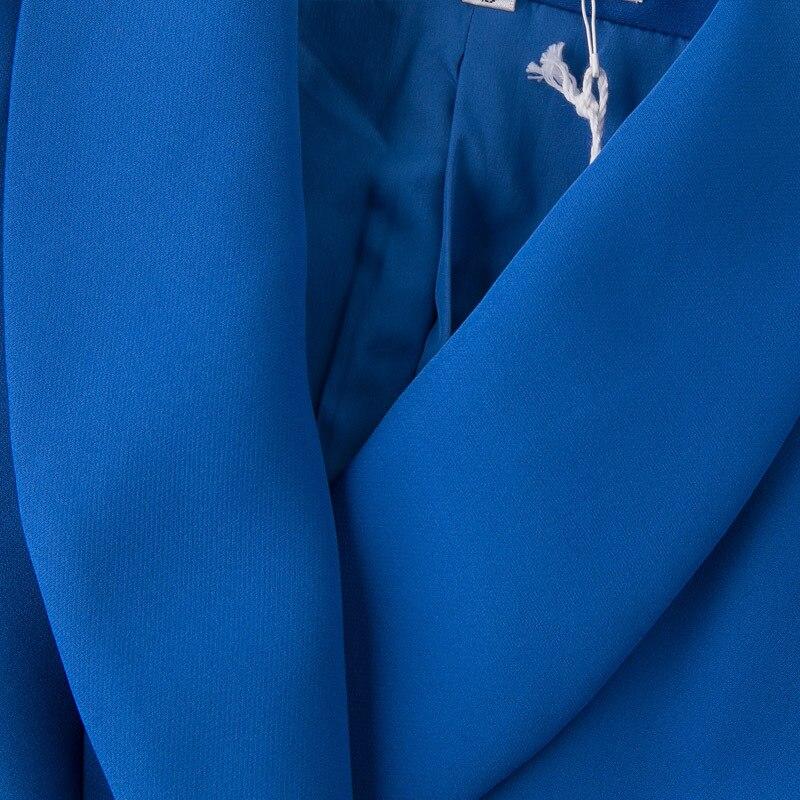 Ellacey Nuovo Ufficio Della Signora 2 Pezzi Set delle Donne Professionali Vestito di Pantaloni Giacca Sportiva Uniforme Rosso Blu di Affari Formale Vestito con pantaloni - 5