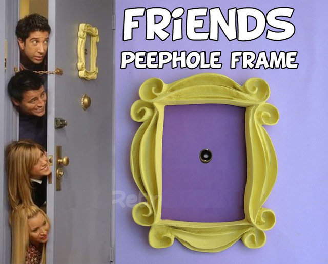 New Friends Yellow Peephole Frame As Seen On Monicas Door On