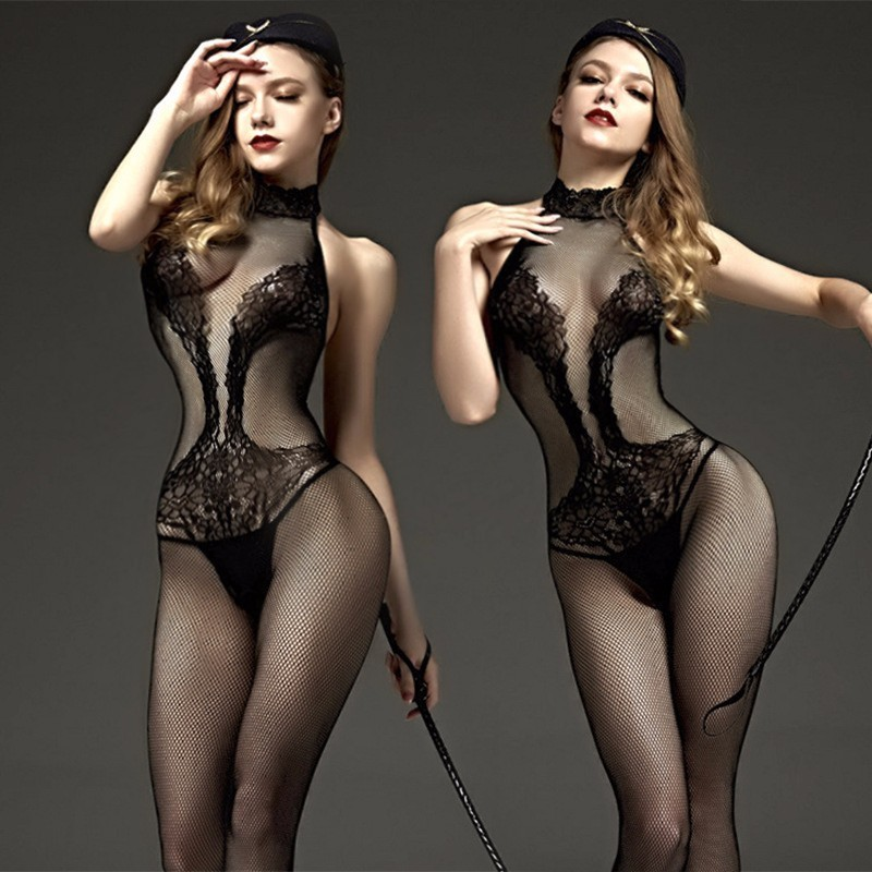 <font><b>Sexy</b></font> <font><b>Lingerie</b></font> For Women Hot Erotic Fishnet Pantyhose <font><b>Mesh</b></font> Hollow Out Women Stockings <font><b>Babydoll</b></font> Transparent Lace Tights qq069 image