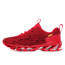 цена на Large Size 46 Red Ultra Light Mens Sneakers Breathable Men Running shoes outdoor Sports Shoes walking Jogging Shoes male