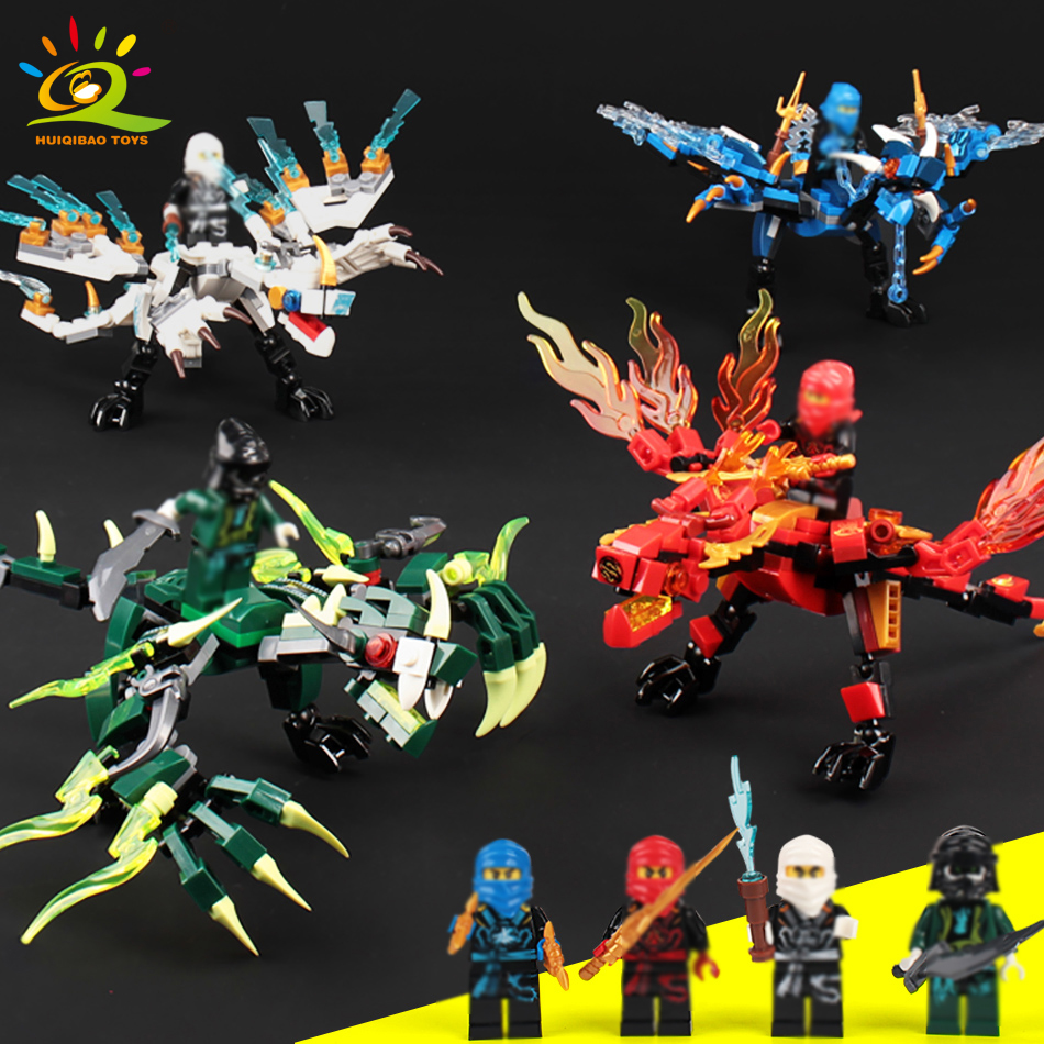 115pcs+ ninja dragon knight building blocks enlighten toy for children Compatible Legoing Ninjagoes DIY bricks for boy friends