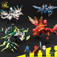 115pcs+ ninja dragon knight building blocks enlighten toy for children Compatible Legoing Ninjagoes DIY bricks for boy friends